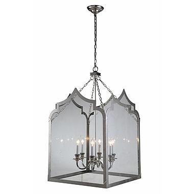 Gracie Oaks Boonton 6-Light Foyer Pendant; Polished Nickel