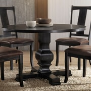 Gracie Oaks Bloomingdale Round Pedestal Dining Table; Black