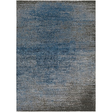 Gracie Oaks Hatboro Blue/Gray Area Rug; 2' x 3'7''