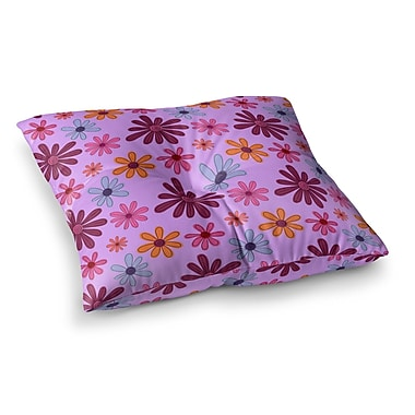 East Urban Home Woodland Floral by Jane Smith Floor Pillow; 26'' x 26''