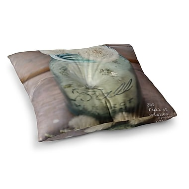 East Urban Home Jar of Wishes Fuzzy by Debbra Obertanec Floor Pillow; 26'' x 26''