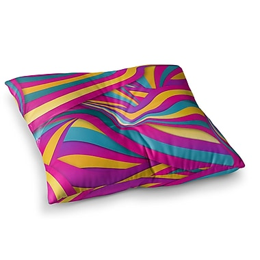 East Urban Home Swirls Everywhere by Danny Ivan Floor Pillow; 23'' x 23''
