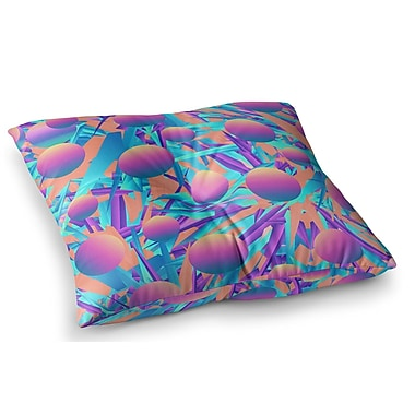 East Urban Home Blind Face by Danny Ivan Floor Pillow; 26'' x 26''