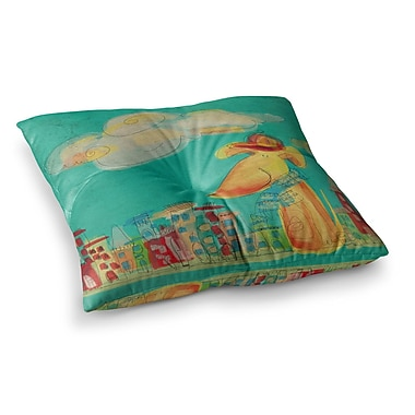 East Urban Home Perrito Dog by Carina Povarchik Floor Pillow; 26'' x 26''