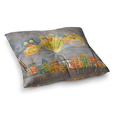 East Urban Home Lechuzas by Carina Povarchik Floor Pillow; 23'' x 23''