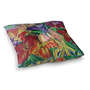 East Urban Home Matisse Styled Lillies Flower by Cathy Rodgers Floor Pillow; 23'' x 23''