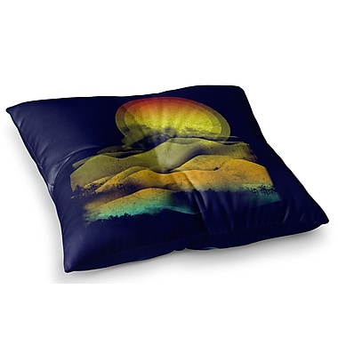East Urban Home Sunset Landscape by Federic Levy-Hadida Floor Pillow; 26'' x 26''