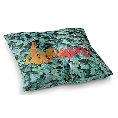 East Urban Home Dream Typography by Chelsea Victoria Floor Pillow; 26'' x 26''