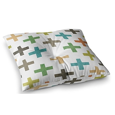 East Urban Home Hipster Crosses by Daisy Beatrice Floor Pillow; 26'' x 26''