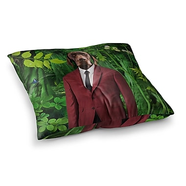East Urban Home Into the Leaves N2 Dog by Natt Floor Pillow; 23'' x 23''
