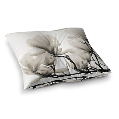 East Urban Home Magnolia Blossoms Floral by Iris Lehnhardt Floor Pillow; 23'' x 23''