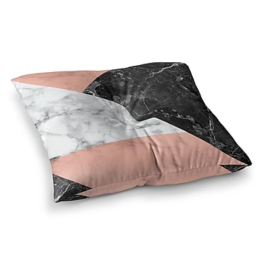 East Urban Home Geo Marble and Art Deco Floor Pillow; 23'' x 23''