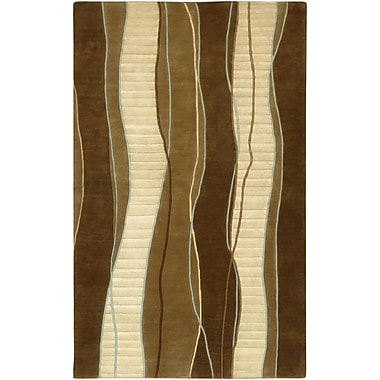 Orren Ellis Hierius Brown Area Rug; 9' x 13'