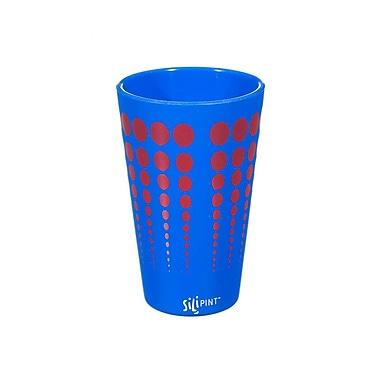 Ebern Designs Cayden Silipint Water/Juice Glass; Blue / Red