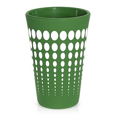 Ebern Designs Cayden Silipint Water/Juice Glass; Dark Green / White