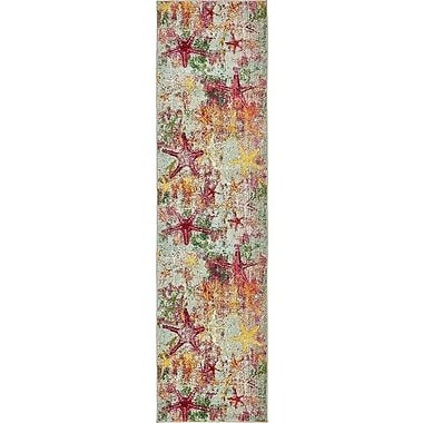 Bayou Breeze Ethel Beige/Pink Area Rug; Runner 2' 7'' x 10'