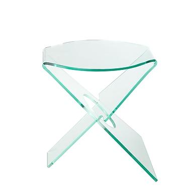 Brayden Studio Hirschman End Table; Clear