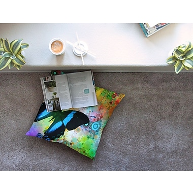 East Urban Home Colorful Butterfly by Alyzen Moonshadow Floor Pillow; 23'' x 23''