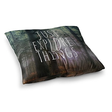 East Urban Home Just Explore Things Photography by Alison Coxon Floor Pillow; 23'' x 23''