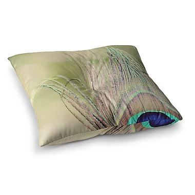 East Urban Home Sun Kissed Peacock Feather by Beth Engel Floor Pillow; 26'' x 26''