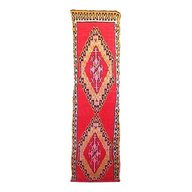 Indigo&Lavender Moroccan Vintage Boujad Hand Knotted Wool Red/Orange Area Rug