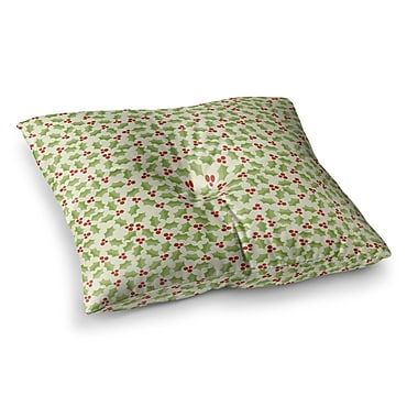 East Urban Home Oh Holly Night by Heidi Jennings Floor Pillow; 23'' x 23''