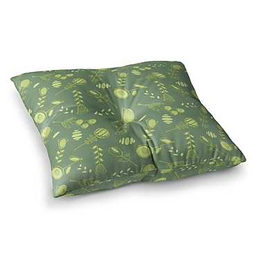 East Urban Home Hattie Floral by Holly Helgeson Floor Pillow; 26'' x 26''