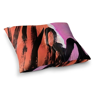 East Urban Home Strokes on Sherbet Abstract by Iris Lehnhardt Floor Pillow; 26'' x 26''