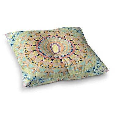 East Urban Home Flourish Circle by Iris Lehnhardt Floor Pillow; 23'' x 23''