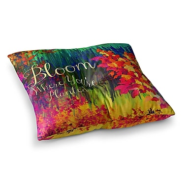 East Urban Home Bloom Where You're Planted Floral by Ebi Emporium Floor Pillow; 26'' x 26''