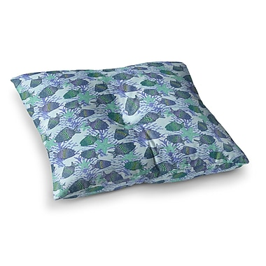 East Urban Home My Colorful Fishes by Julia Grifol Floor Pillow; 26'' x 26''