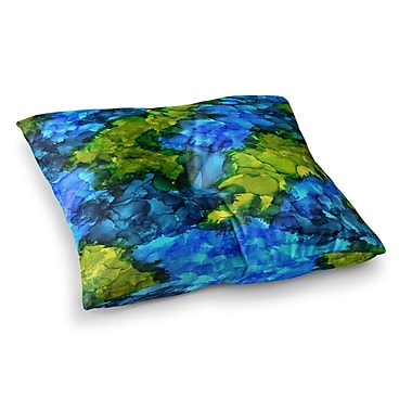 East Urban Home Islands Abstract Painting by Claire Day Floor Pillow; 26'' x 26''