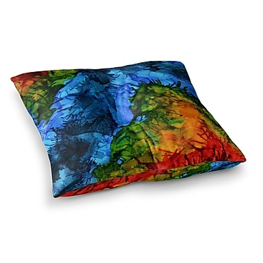 East Urban Home Flow by Claire Day Floor Pillow; 26'' x 26''