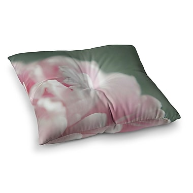 East Urban Home A Single Peony Floral Photography by Cristina Mitchell Floor Pillow; 26'' x 26''