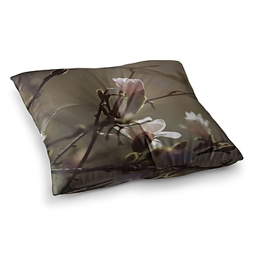 East Urban Home Magnolia Blooms by Angie Turner Floor Pillow; 23'' x 23''
