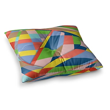 East Urban Home Layers #19 Pastel Digital by Bruce Stanfield Floor Pillow; 26'' x 26''