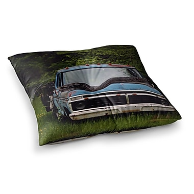 East Urban Home Old Ford Truck Digital by Angie Turner Floor Pillow; 23'' x 23''