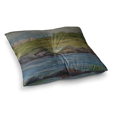 East Urban Home Castle Ruins by Cyndi Steen Floor Pillow; 23'' x 23''