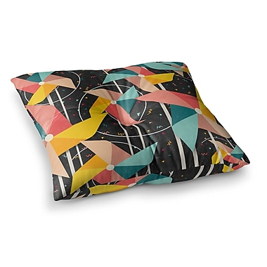 East Urban Home Colorful Pinwheels Abstract by Danny Ivan Floor Pillow; 23'' x 23''