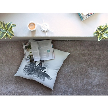 East Urban Home Princess Monokiki Fantasy Illustration by Frederic Levy-Hadida Floor Pillow