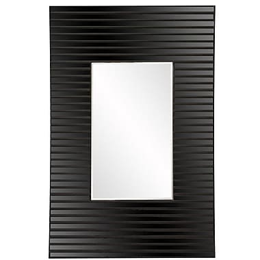 Orren Ellis Chappell Bowed Framed Wall Mirror; Black