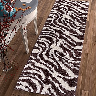 Ebern Designs Dondre Brown Indoor Area Rug; Runner 2' x 7'3''