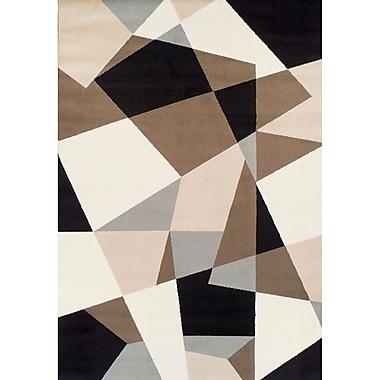 Brayden Studio Connally Geometric Synthetic Black/Cream Area Rug