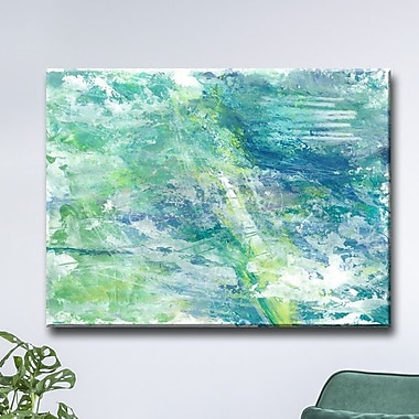 Brayden Studio 'Cool Aqua Ocean Reef' Acrylic Painting Print on Wrapped Canvas; 30'' H x 40'' W