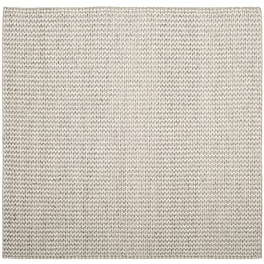 Gracie Oaks Newry Hand-Tufted Ivory/Silver Area Rug; Square 6'