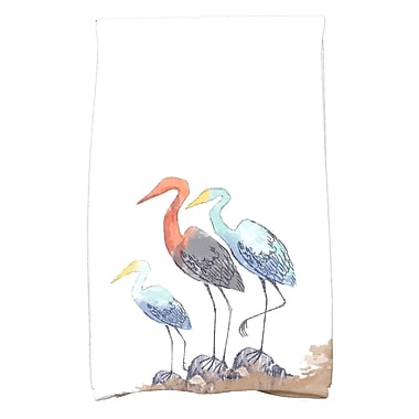 Highland Dunes Boubacar Stork Hand Towel; White