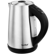VonShef 54 Qt. Variable Temperature Control Cordless Stainless Steel Electric Tea Kettle