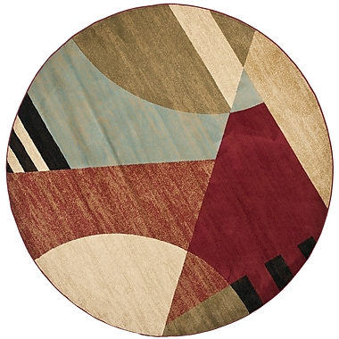Ebern Designs Charis Flower-Petal Area Rug; Round 7'