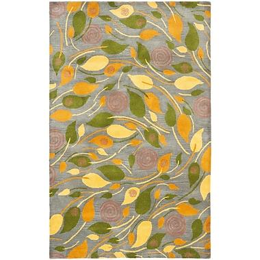 Ebern Designs Chidi Leaves Area Rug; 5' x 8'