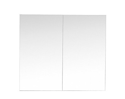 Ivy Bronx Fritz Storage Vanity Mirror w/ Marble Counter-Top; 31'' H x 36'' W x 7'' D